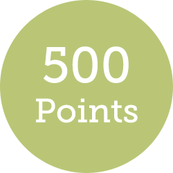 500 points