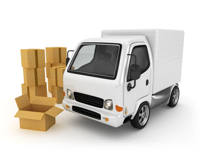 Delivery van & parcels