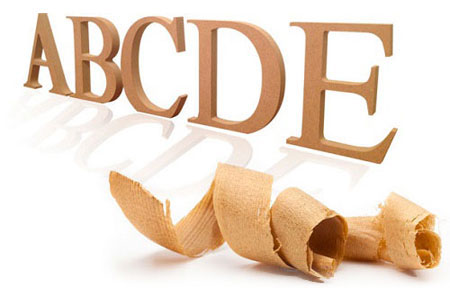 Wooden MDF lettering & shapes
