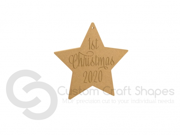 1st Christmas 2020 Star (6mm)