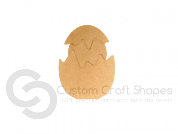 3 Piece Easter Egg and Chick (18mm)