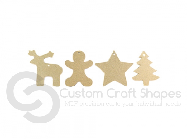 Christmas Decorations x 4 (6mm)