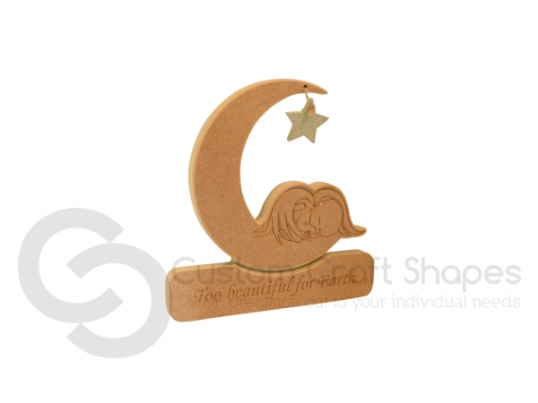 """Angel Baby in a Moon, """"Too Beautiful..."""" (18mm)"""