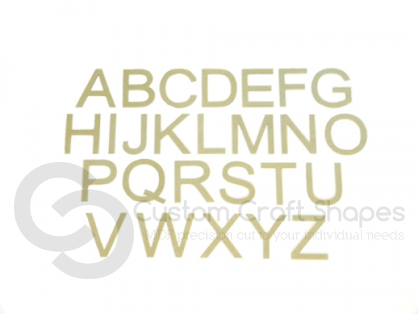 Arial Font, Individual Capital Letters (6mm)