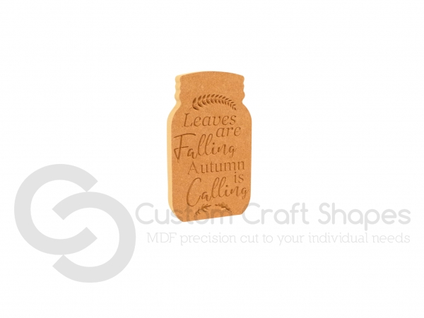 Autumn / Fall Engraved Mason Jars (18mm)