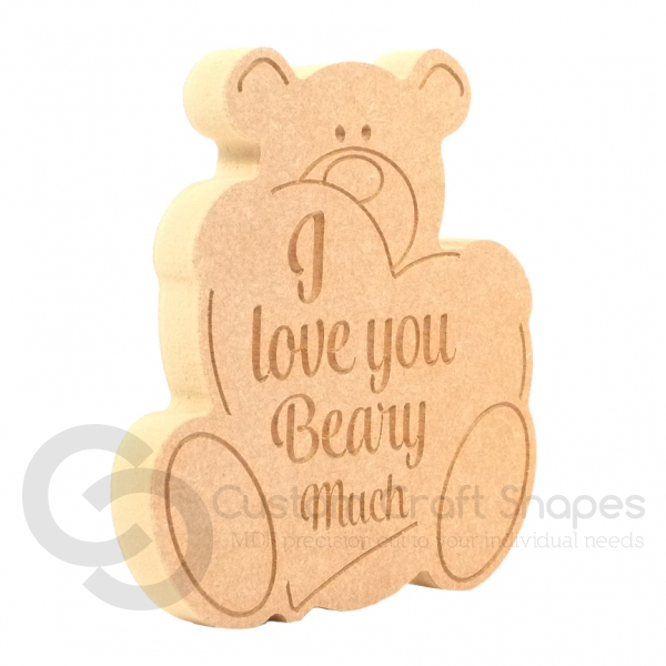 'I love you Beary Much' Bear (18mm)
