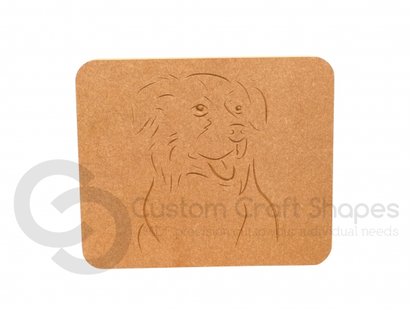 Border Collie Face Plaque (18mm)
