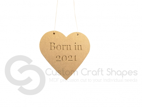 Born in 2021 Heart (6mm)