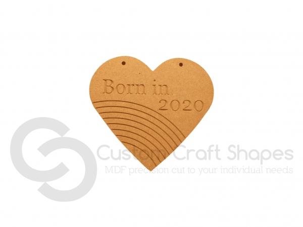 Born in 2020 Rainbow Heart (6mm)