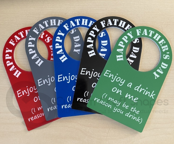 Bottle tag, Happy Fathers Day (3mm)