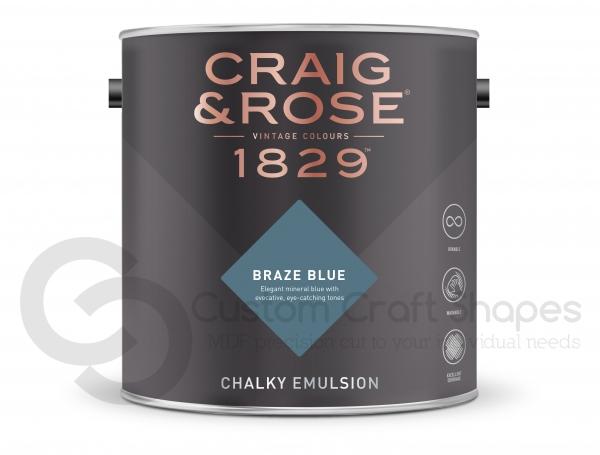 Braze Blue Chalky Emulsion, Craig & Rose Paint