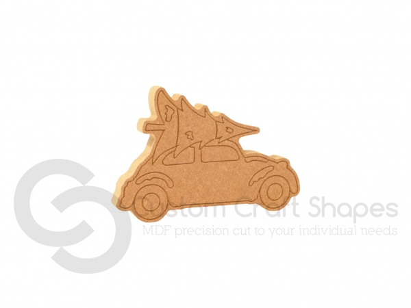 Car with Christmas Tree, Freestanding (18mm)