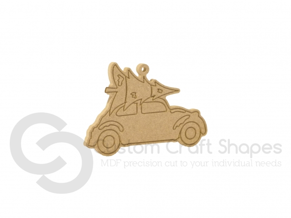 Car with Christmas Tree, Hanging Decoration (6mm)