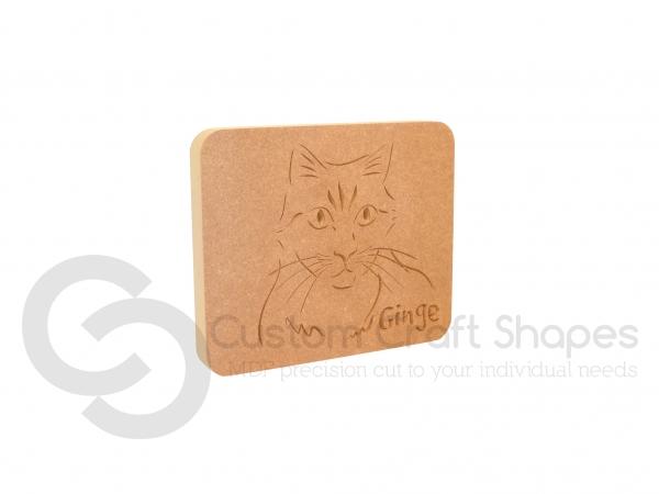 Cat Face Plaque (18mm)