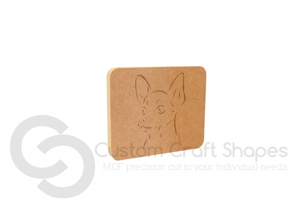 Chihuahua Dog Face Plaque (18mm)
