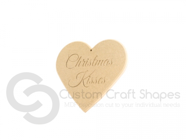 Christmas Kisses Heart with rounded edge (6mm)