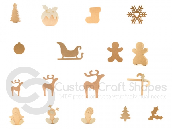 Christmas Shapes Trial Bundle (18mm)