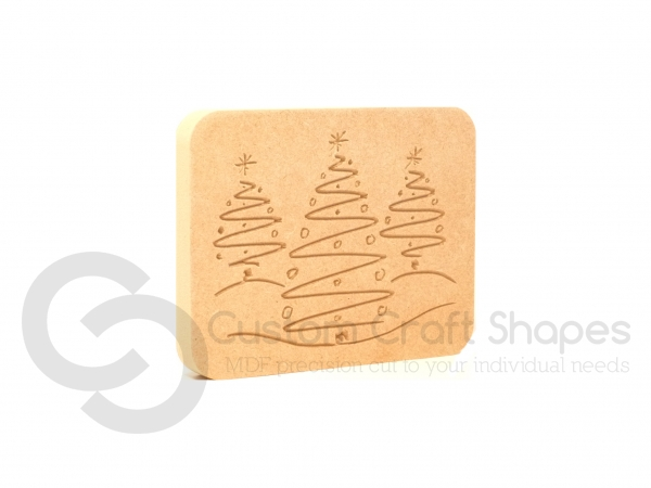 Christmas Tree Plaque (18mm)