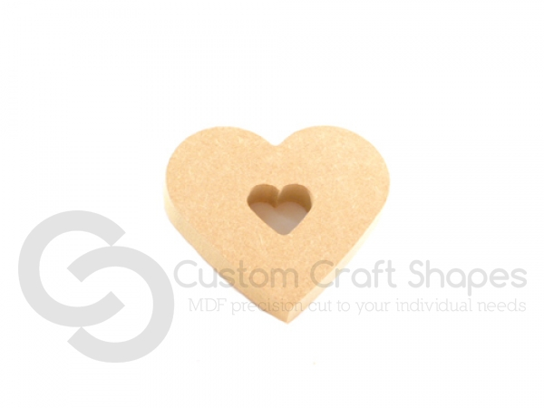 Chunky Heart with Heart Cut Out (18mm)