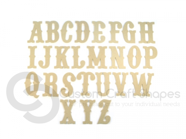 Circus Font Individual Capital Letters (6mm)