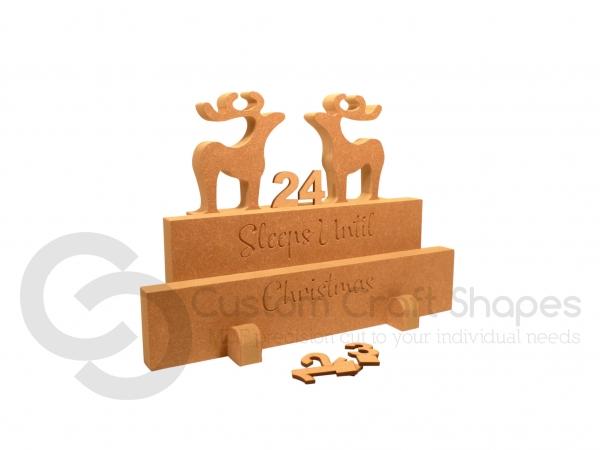 Classic Reindeer Countdown Calendar (18mm)