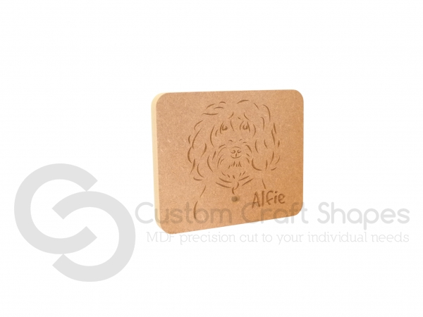 Cockapoo Cavapoo Dog Face Plaque (18mm)
