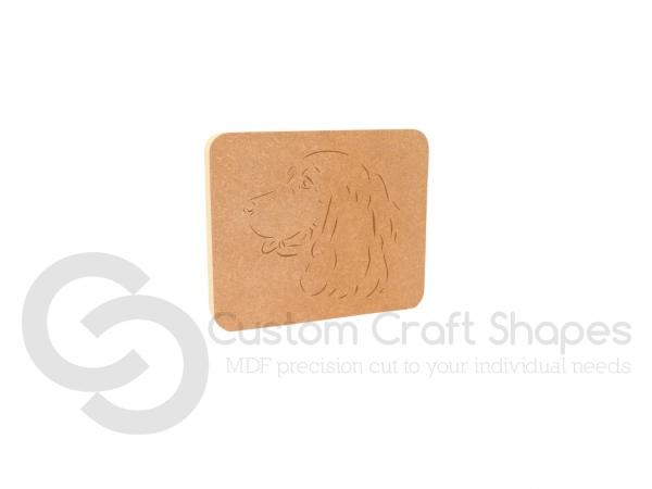 Cocker Spaniel Dog Face Plaque (18mm)