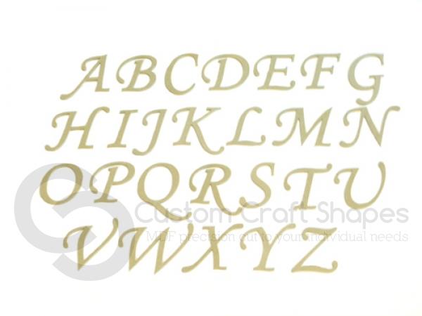 Corsiva Font Individual Capital Letters (6mm)