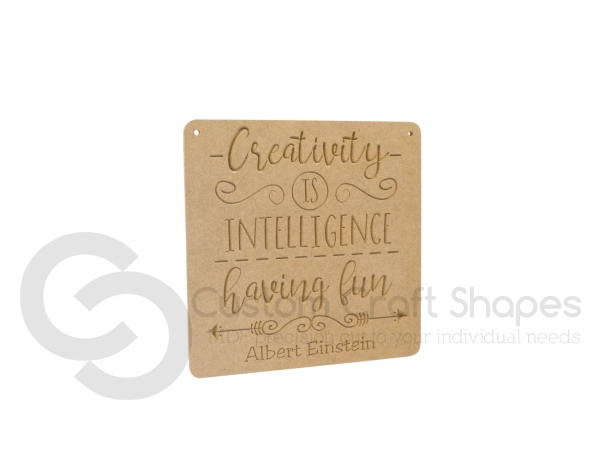 Creativity is Intelligence Having Fun (6mm)
