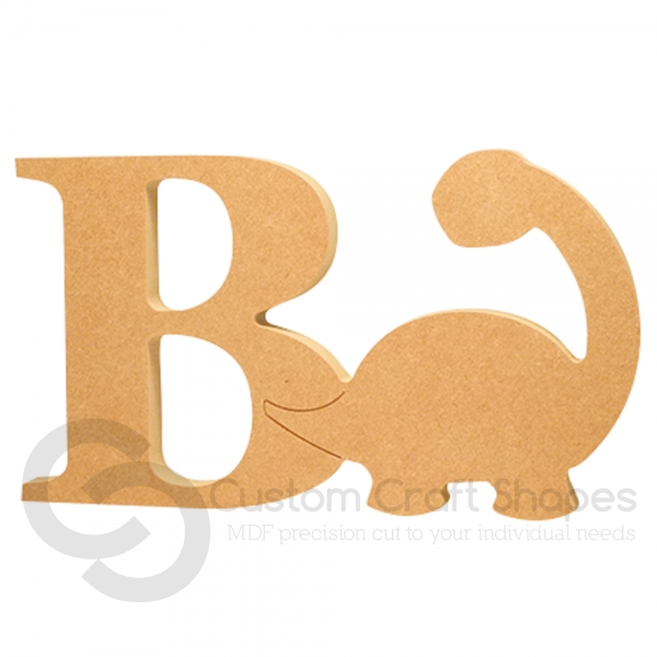 Dinosaur Shape with Letter (18mm)