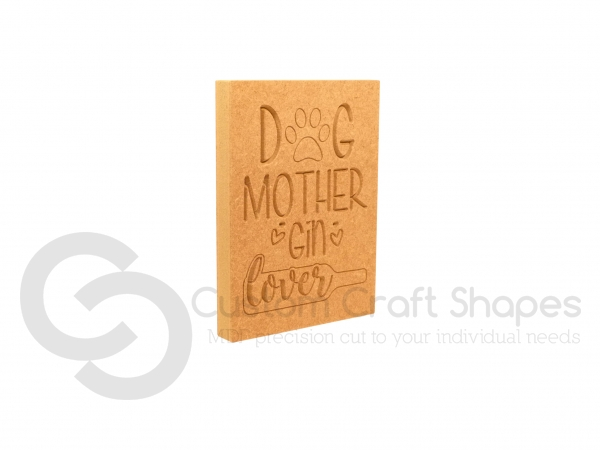 Dog Mother Gin Lover, Engraved Plaque (18mm)