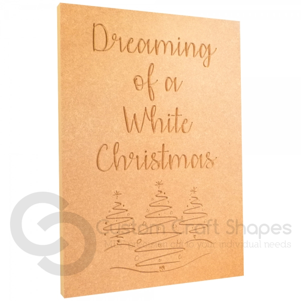 Dreaming of a White Christmas...Large engraved plaque (18mm)