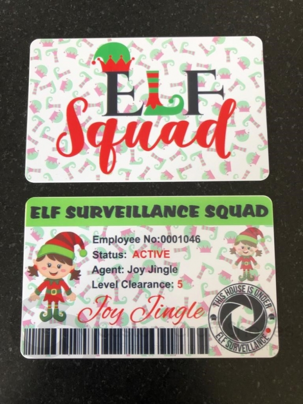 Elf GIRL Surveillance Card (Plastic)