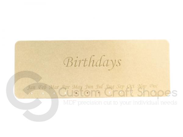 Engraved Birthdays Plaque