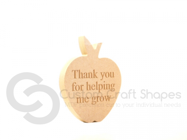 """""""Thank you for helping me grow"""" Apple (18mm)"""