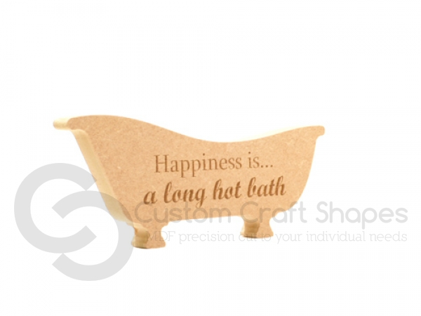 Engraved Freestanding Bath, 'Happiness is...'