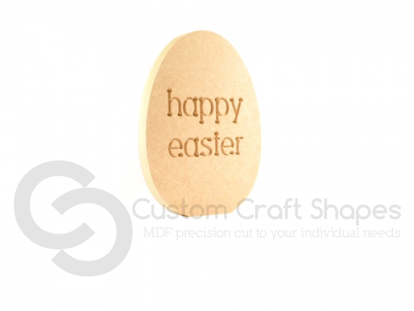 'happy easter' Engraved Easter Egg (18mm)