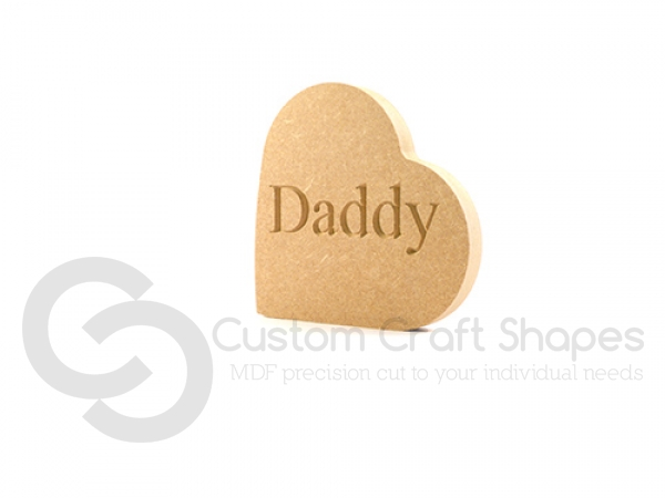 Heart on the side - Daddy/Dad...  (18mm)