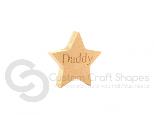 Star - Engraved Daddy (18mm)