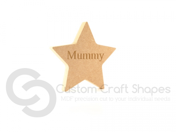 Star - Engraved Mummy (18mm)