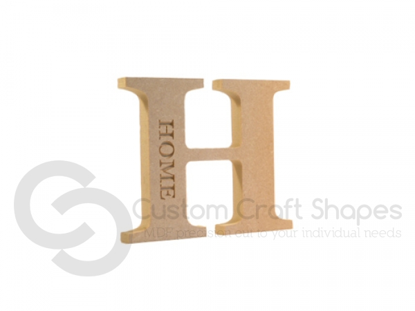Engraved Georgian Bold Letter H, Home (18mm)