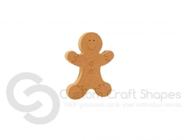 Engraved Gingerbread Man (18mm)