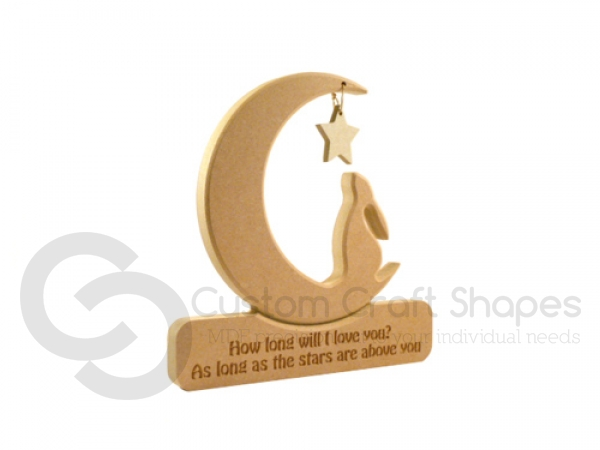 Hare in a Moon 'How long will I love you...'  (18mm)