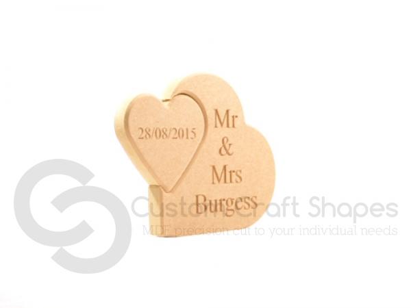 Mr & Mrs Interlocking Hearts (18mm)