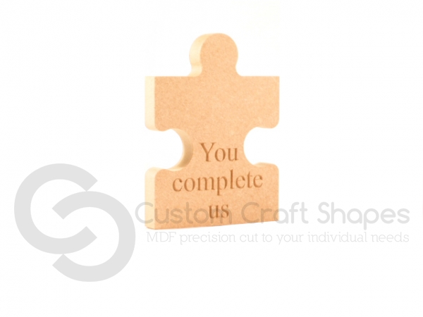 Engraved Jigsaw Piece, You complete us (18mm)