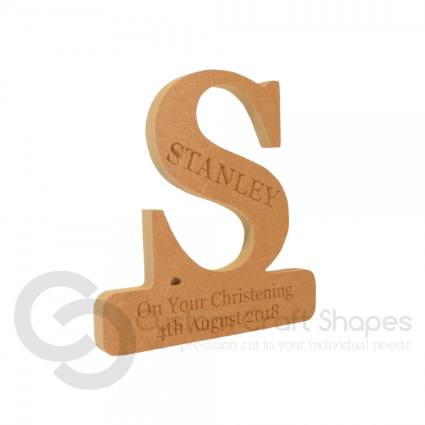 Engraved Letter on a Plinth (18mm)