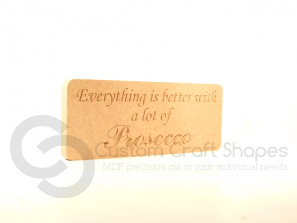 Everything is better with... Engraved Plaque 18mm