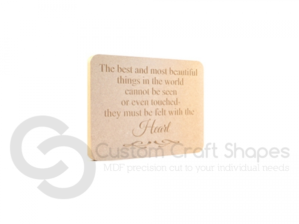 Engraved Plaque 'The best and most beautiful...' (18mm)
