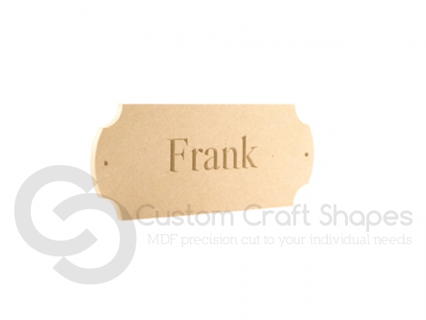 Engraved Plaque with Internal Radius Corners (6mm)