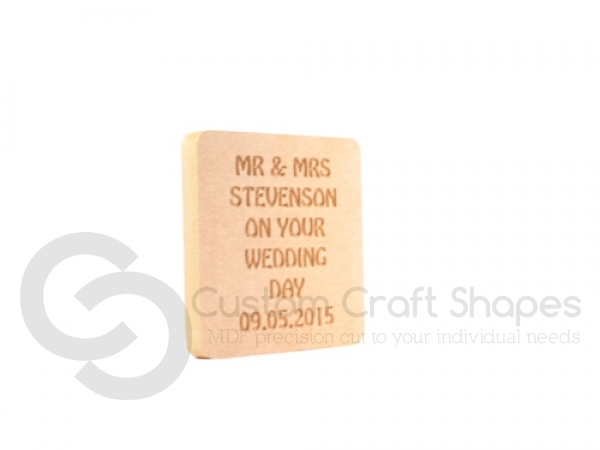 """Engraved """"On Your Wedding Day"""" Plaque (18mm)"""